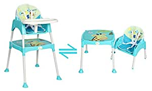 R For Rabbit Convertible Baby High Chair With Cushion - Blue