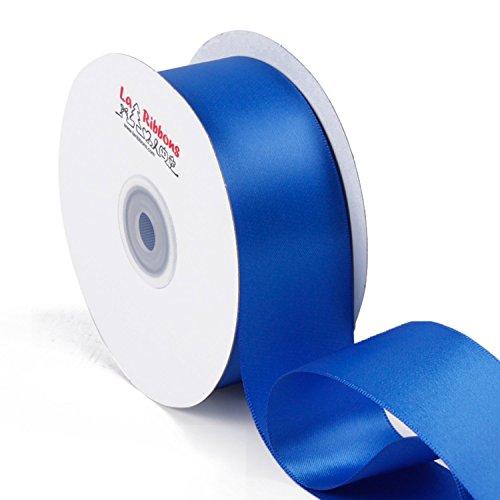 Laribbons 22,9m 1–1/5,1cm face nastro di raso, blu royal