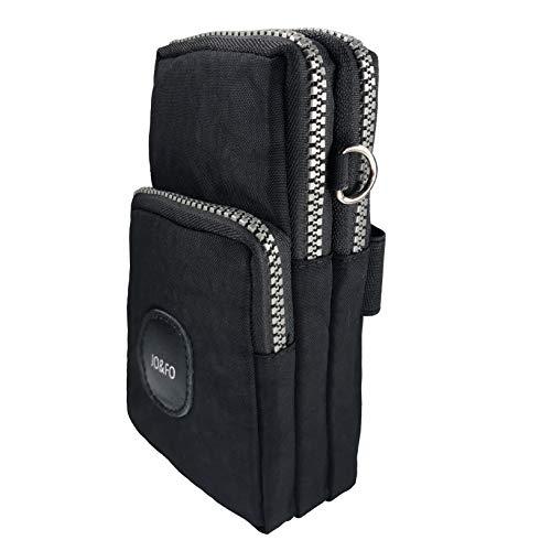 Multifunktionale Handy Tasche 3 Schichten Crossbody Schulter Mini Handtasche wasserdicht Nylon Wristlet Purse -