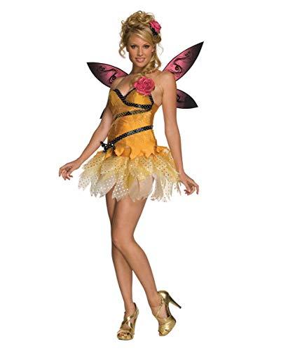 Horror-Shop 4-TLG. Freche Nymphe Kostüm als Fee Verkleidung für Karneval L (Freche Fee Kostüm)