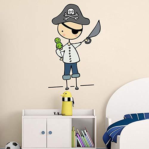 (hllhpc Cartoon Pirate Mateys Farbe Wandaufkleber Für Kinderzimmer Kindergarten Abnehmbare Tapete Poster Schlafzimmer Wandkunst Aufkleber Wohnkultur)