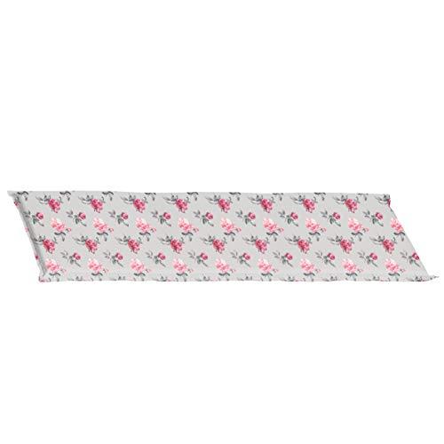 greemotion Bankauflage Palo, Sitzkissen aus 50 % Polyester und 50 % Baumwolle, mehrfarbiges Kissen mit Rosenmuster, ca. 112 x 4 x 38 cm