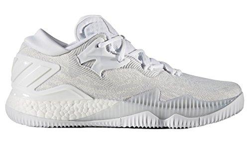 adidas Herren Crazylight Boost Lo Basketballschuhe Bianco Ftwwht/Clgrey, 46 EU