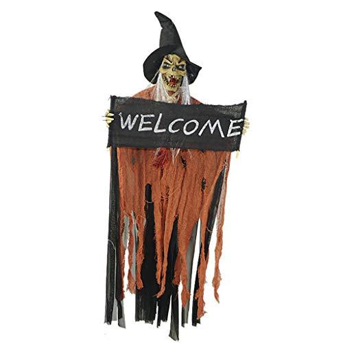 Daygeve Zuhause Party Deko, Anatomische Tracing, Medizinische Lehre, Halloween Dekoration Statue,Halloween Scary Horror Spukhaus Licht Kostüm Schädel Hexe verkleiden Sich Prop