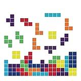 decalmile Stickers Muraux Enfants Tetris Autocollant Décoratifs Jeu d'arcade Vintage Décoration Murale Chambre Enfants Bébé Pépinière Salle de Jeux