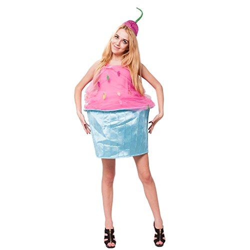 EraSpooky Damen Lustige Kuchen Halloween Kostüm mit Hut (Kiss-halloween-kostüme)