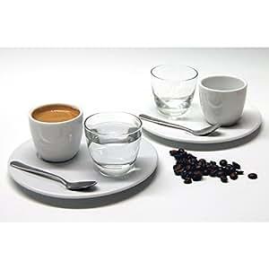 retsch arzberg 710013084 39 nice 39 espresso set f r 2 personen porzellan wei klar silber 8. Black Bedroom Furniture Sets. Home Design Ideas