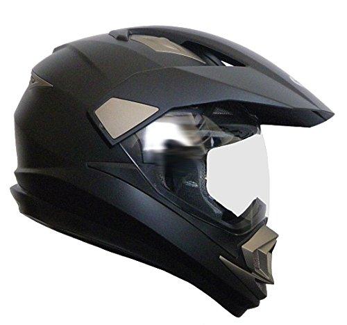 Crosshelm Integralhelm Helm Motorradhelm Rollerhelm RALLOX XP14A schwarz/matt (S, M, L, XL, XXL) Größe M