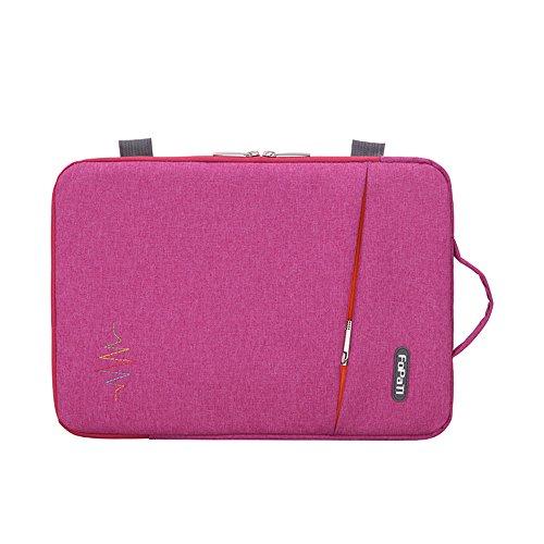 D-Tree Fabric Waterproof Laptop Sleeve (13.3 Inch, Red)