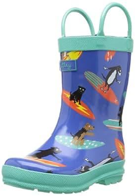 Hatley Boys Rubber B Wellington Boots RB0OCDO001 Surfing Dogs 13 UK Child, 32 EU