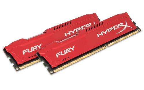 Kingston HyperX Fury Memorie RAM 1333 Mhz DDR3, Rosso, 16 GB [confezione da 2 x 8GB]