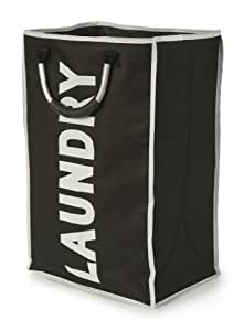 Laundry Bag with Handles, Black