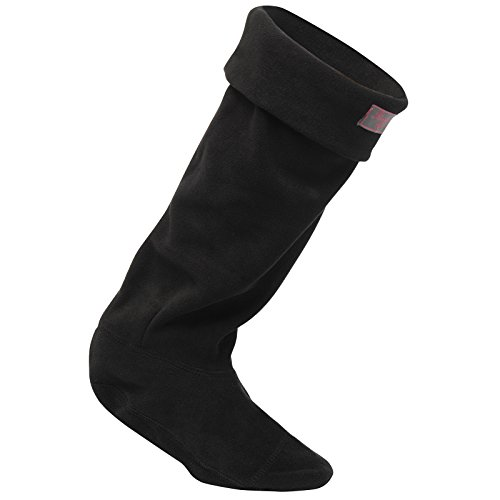 Regatta Fleece Wellington Sock Schwarz M (Sock Damen Welly Fleece)