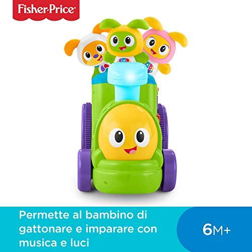Fisher-Price-Il Trenino di Robottino Giocattolo Elettronico per Lo Sviluppo del Bambino, dai 6 Mesi, FXH95