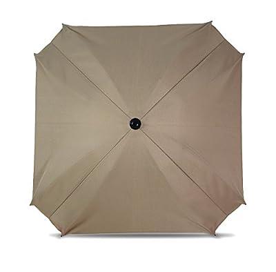 Sombrilla para carritos, con brazo de montaje flexible, sombrilla con protección UV, diámetro 68cm,