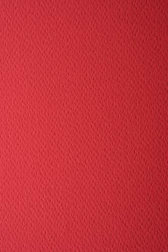 10 Blatt Rubinrot 220g Tonkarton einseitig strukturiert DIN A4 210x297 mm Prisma Rubino, ideal für Einladungen, Visitenkarten, Diplome, zum Zeichnen, Basteln und Dekorieren -
