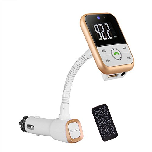 Bluetooth FM-Transmitter Wireless-In-Car-Radio-Adapter / Auto-Ladegerät / MP3-Player / Fernbedienung / Freisprechen für iPhone7s / 07.07 Plus iPad, Samsung Galaxy (Gold) -