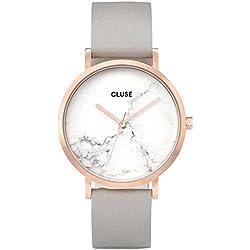 Cluse Reloj Digital de Cuarzo Unisex con Correa de Cuero