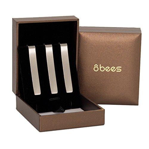 uomo-fermacravatta-finitura-metallica-21-inch-argento-spazzolato-uomo-cravatta-serie-matrimonio-busi