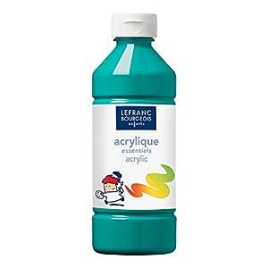 Lefranc & Bourgeois - Los Esenciales - Pintura acrílica líquida, 500 ml, Color Verde Oscuro