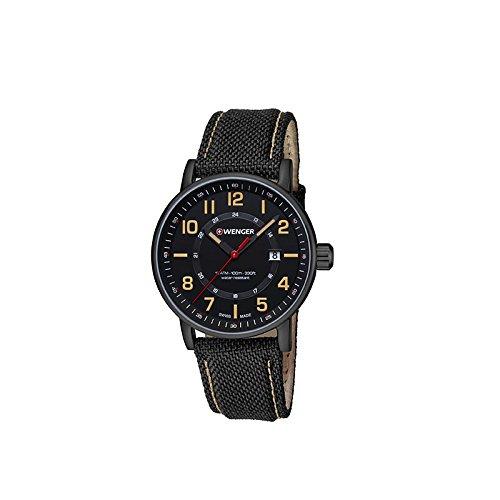 Wenger Unisex Reloj de pulsera analógico cuarzo piel 01.0341.110