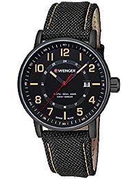 WENGER Unisex-Armbanduhr Analog Quarz Leder 01.0341.110