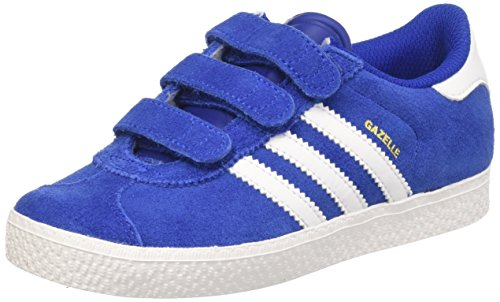 adidas Unisex-Kinder Gazelle 2 CF Low-Top Blau (Collegiate Royal FTWR White), 29 EU