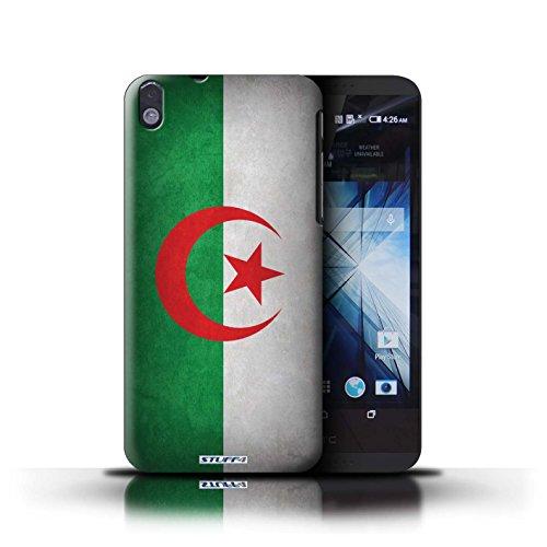 Kobalt® Imprimé Etui / Coque pour HTC Desire 816 / Nigeria conception / Série Drapeau Algérie