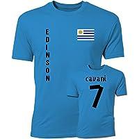 Edinson Cavani Uruguay Flag T-Shirt (Blue)