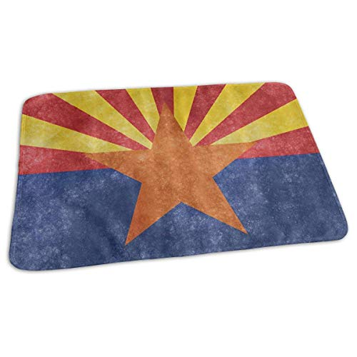 Kotdeqay Premium Wickelauflagen für Babywindelfor Infant Arizona State Flag Portable Incontinence Pads Play Mat Great for Travel/Stroller/Bed/Car
