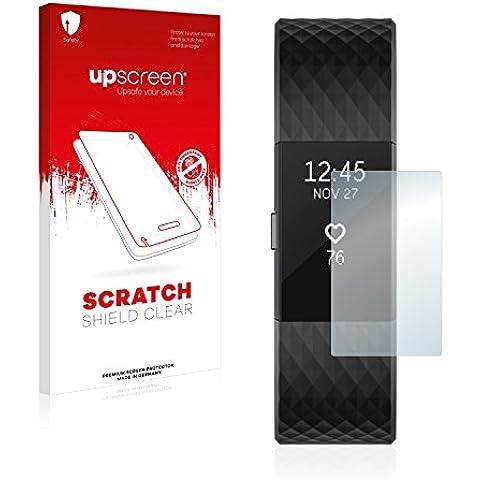 upscreen Scratch Shield Pellicola Protettiva Fitbit Charge 2 Protezione Schermo – Trasparente, Anti-Impronte