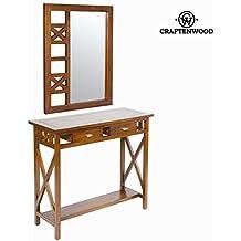 Console ingresso rustico con specchio - Serious Line Collezione by Craften Wood (1000026168)