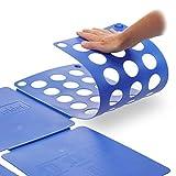 Relaxdays Faltbrett für Wäsche HBT ca. 0,5 x 70,5 x 59 cm mit Falt Butler Kleidung auf DIN A4 falten große Falthilfe platzsparender Wäschefalter Hemdenfalter, blau - 5