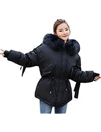 41b7fcdb6ba2b7 Damen Wintermantel Winterjacke Parka Jacke Kurz Daunenmantel Mantel Fell  Kragen Steppjacke Outwear…