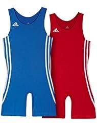 Duo tenue lutte Enfant Adidas bleu et rouge