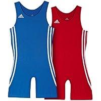 adidas Performance Basic Doppelpack Rot & Blau Herren Ringer-Anzug GRÖßENAUSWAHL