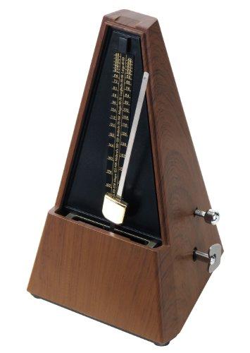 Classic Cantabile M02 Metronom mit Glocke Braun (mechanisch, einstellbare Taktarten, Schwungpendel, in Pyramidenform)
