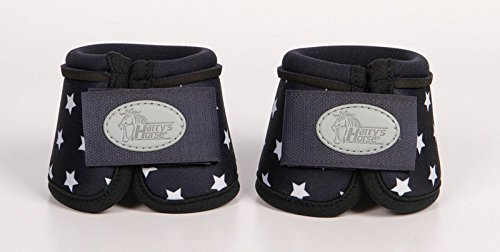 Harry\'s Horse Neopren Hufglocken STOUT! Minishetty navy mit Sternenprint (Minishetty)