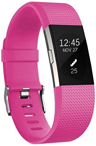 Ersatz Fitbit Charge 2 Armband, HUMENN Weich Verstellbares Armband mit Klassisch Schnalle für Fitbit Charge 2 Small Rosa