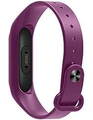 Para Xiaomi banda Sannysis Correa de muñeca TPU de repuesto para Xiaomi Mi Band 2 Bracelet (Púrpura)