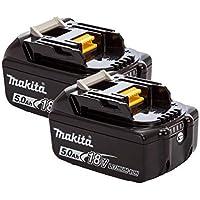 Mak BL1850B Akku für Makita DHP481Z, 18 V, 5,0 Ah, Doppelpack