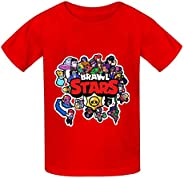 Bra-WL Stars Tee - Camiseta de algodón para niños y niñas