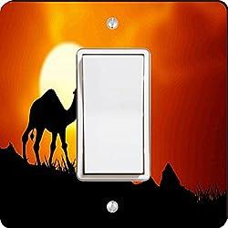 Rikki Knight Camel in Sunset Single Rocker Light Switch Plate