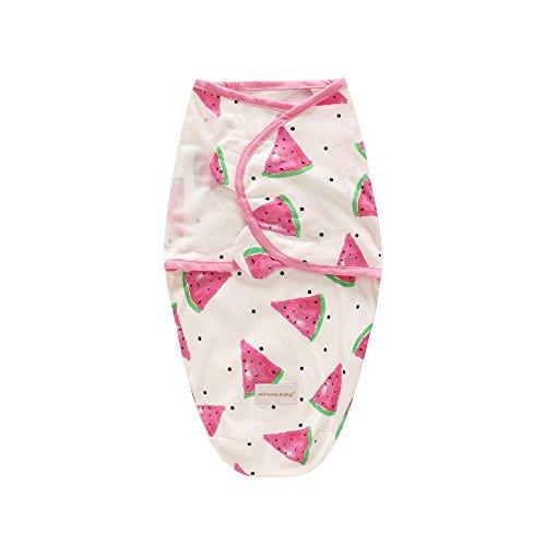 r 100% Baumwolle Infant Swaddle Wrap Decke für Unisex Babys (0-6 Monate) - Swaddle Up Wraps Schlafsack Newborn Baby Wrap Cloth (Groß:3-6 Monate, Wassermelone) ()