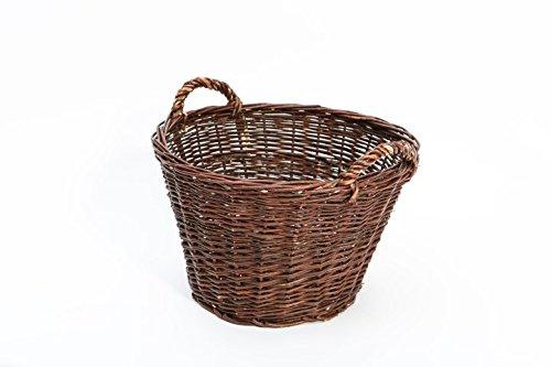 Weidenkorb Erntekorb Kaminholzkorb Gartenkorb rund - in 3 Größen (Ø 55 cm)