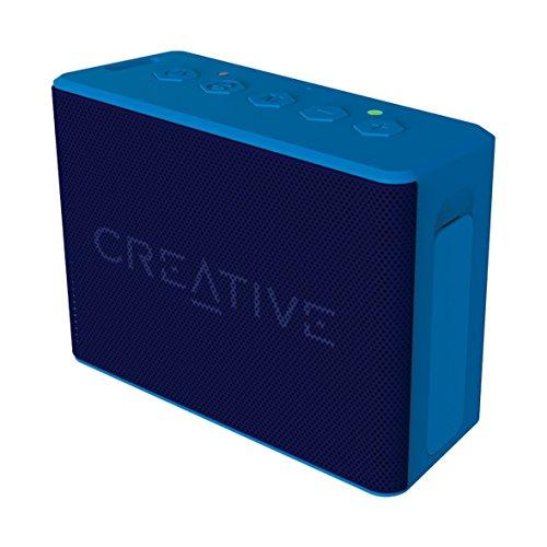 Creative MUVO 2c - Leistungsstarker, kompakter, wetterfester Wireless Bluetooth Lautsprecher (für Apple iOS/Android Smartphone, Tablet/MP3) blau (Generalüberholt)