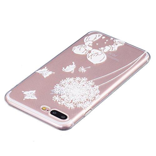 Cozy Hut ® Apple iPhone 7 PLUS Hülle | Premium iPhone 7 PLUS Cover | Tasche | Crystal – Clear | Etui | Silikon | Case | Schutz-Hülle | Bumper | transparente Weicheplastik Rückschale | flexible TPU Bum Jungen und Mädchen
