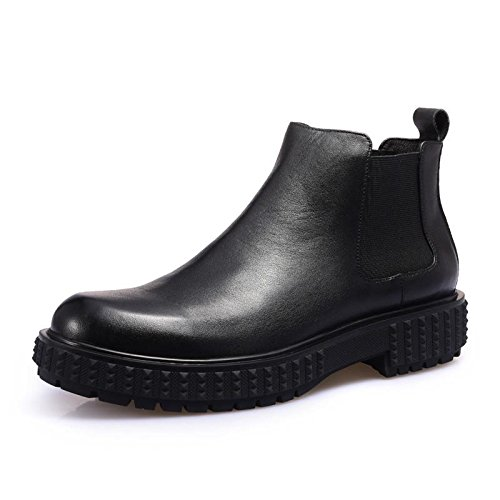 Automne/hiver bottes cuir tête ronde rétro pour hommes d'Angleterre Martin bottes