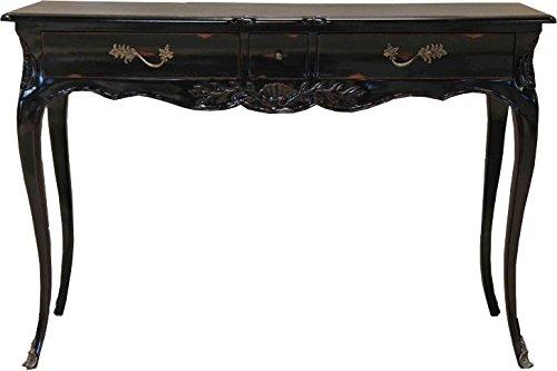Casa Padrino Barock Schreibtisch Antik Schwarz 120 x 80 x 45 cm - Sekretär Luxus Möbel (Schreibtisch Antik Schwarz)