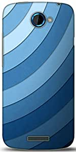 Snoogg Sound Waves Designer Protective Back Case Cover For HTC One S